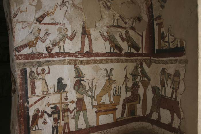 Paintings from the tomb of Petosiris at Muzawaka (m)
